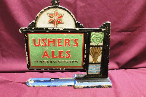 Art Deco Cast Ushers Ales Sign