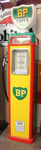 Art Deco French Themis BP Petrol Pump