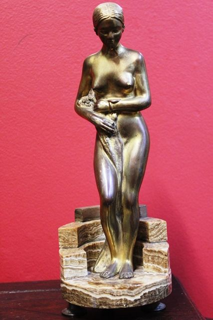 Art Deco Gilt Bronze Figure The Bath