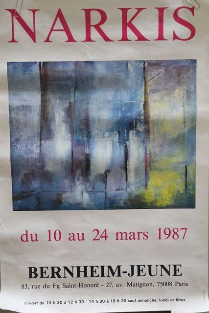 Art Poster Narkis French Dated Mars 1987