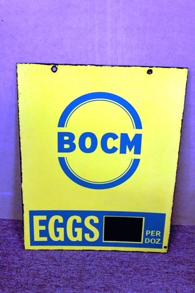 BOCM Eggs Double Sided Enamel Sign