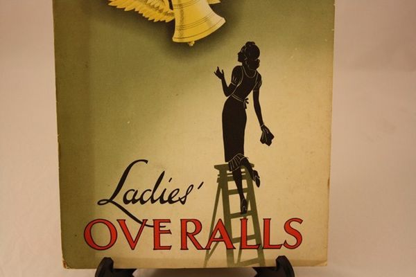 Bell Ladies Overalls Ad Card