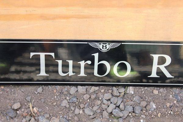 Bentley Turbo R Dummy Plate