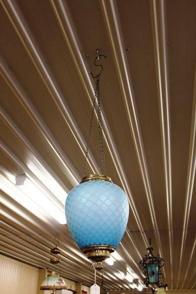 Blue Satin Glass Light C1890
