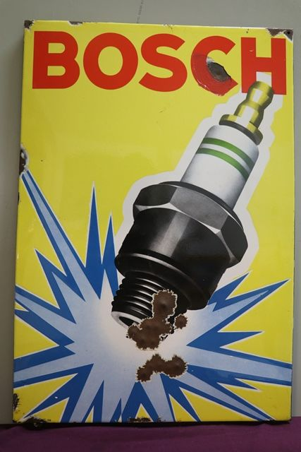 Bosch Enamel Advertising Sign