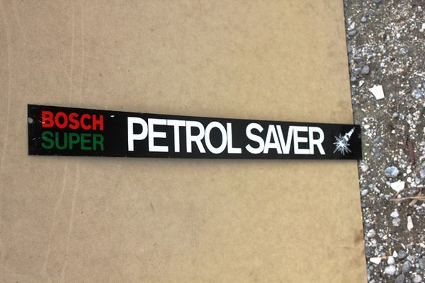Bosch Spark Plug Shelf Tin Sign