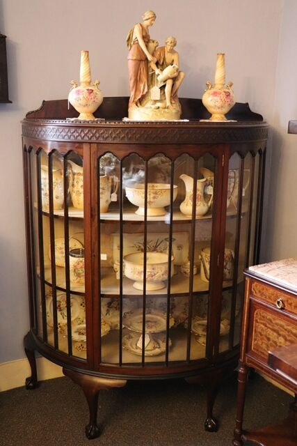 Bow Fronted Display Cabinet