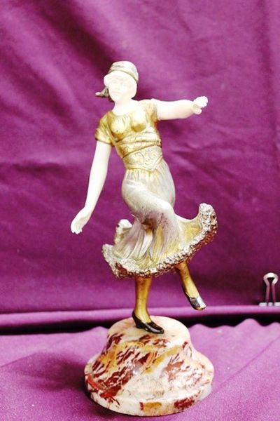 Bronze And Ivory Dancer By Omerth