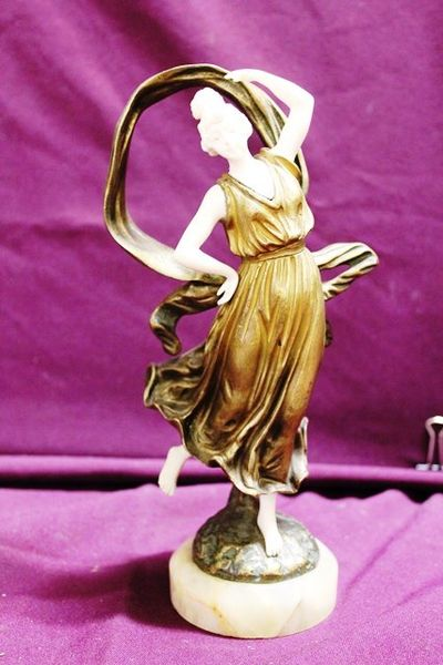 Bronze And Ivory Dancer  By Geo Bailly
