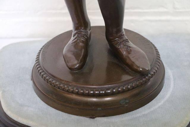 Bronze Figure By Paul Dubois Dated 1865 +quotLe Chanteur Florentia+quot