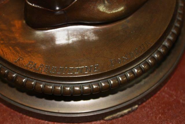 Bronze Figure By Paul Dubois Dated 1865 andquotLe Chanteur Florentiaandquot