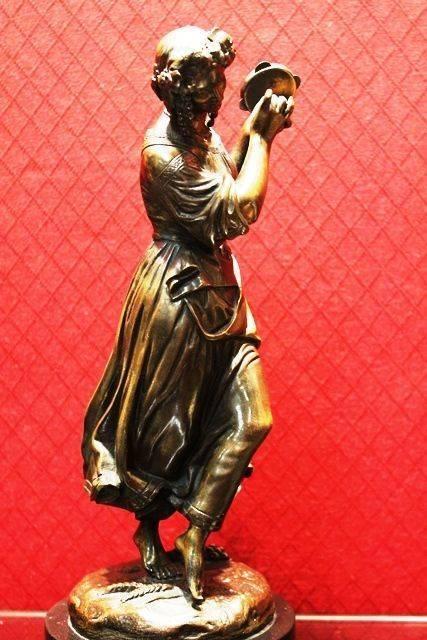 Bronze Figure of Tambourine Player