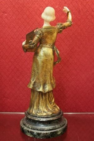 Bronze and Ivory Figure of a Woman