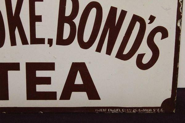 Brooke Bond Tea Post Mount Enamel Sign