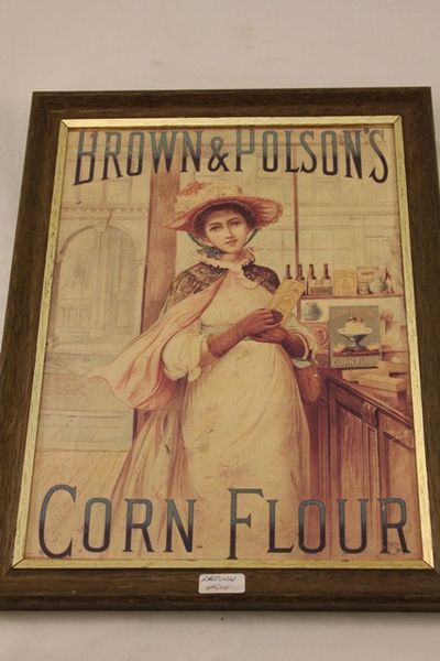 Brown + Polsons Corn Flour Ad Card