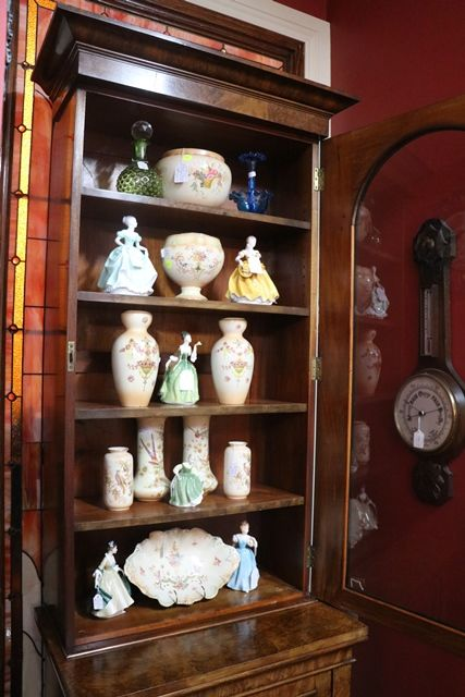 Burr Walnut Bookcase with Single Glazed Upper Door