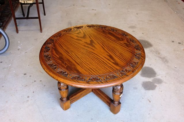 C20th Round Oak Coffee Table
