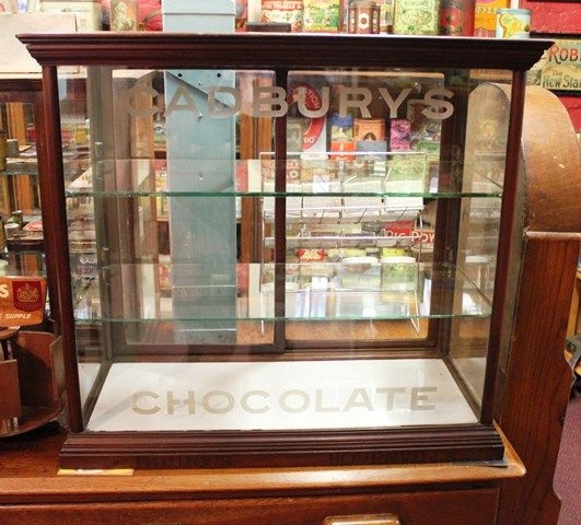 Cadbury Chocolates Display Cabinet With Etched Glass