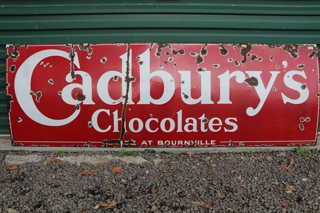 Cadburyand39and39s Chocolates Enamel Advertising Sign