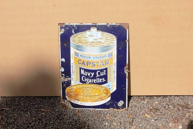 Capstan Cigarettes Pictorial Enamel Advertising Sign