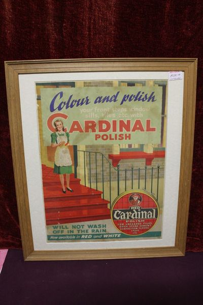 Cardinal Polish Framed Pictorial Shop Display Card