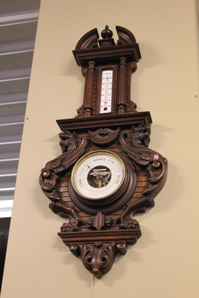 Carved English 20th Century Barometer