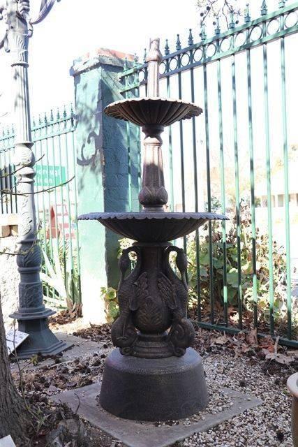 Cast Iron 2 Tier Ibis Fountain