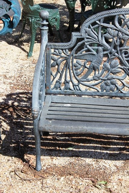 Cast Iron Cameo Bench