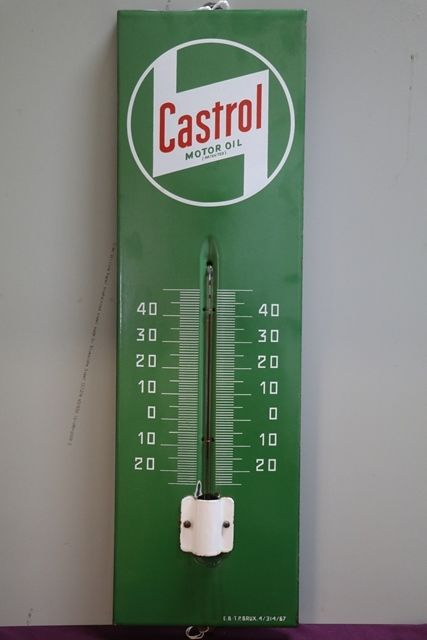 Castrol Enamel Thermometer Sign