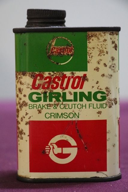 Castrol Girling Brake and Clutch Fluid Tin