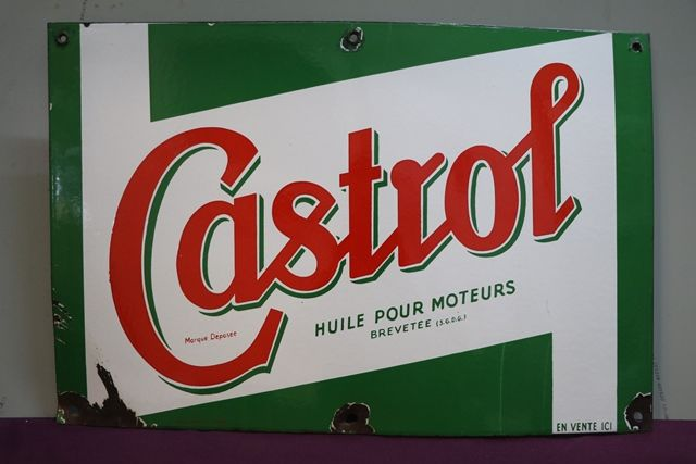 Castrol Z Motor Oil Enamel Advertising Sign