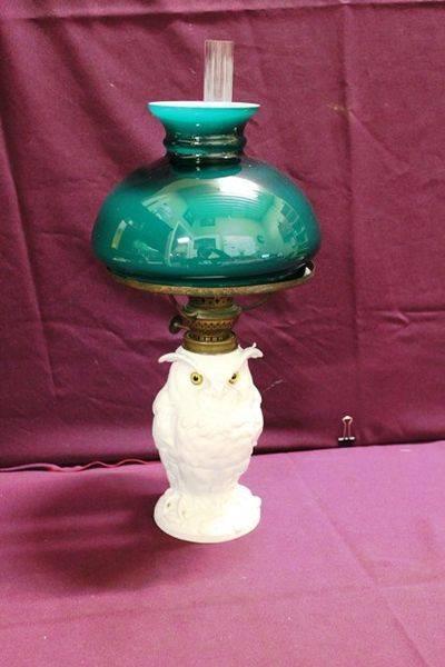 Ceramic Owl Oil Lamp