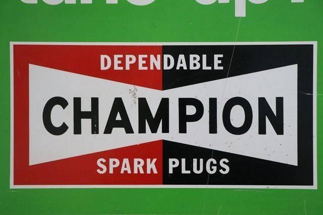 Champion Spark Plugs Advertising Tin Sign