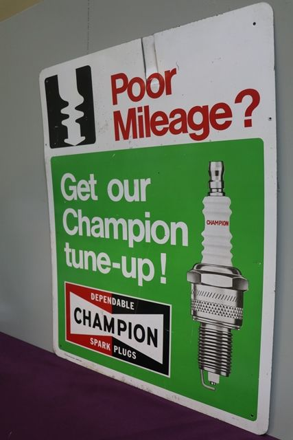 Champion Spark Plugs Advertising Tin Sign