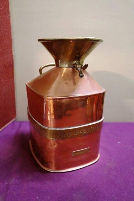 Checkpump Copper and Brass Bound 2 Gal  Petrol Measure