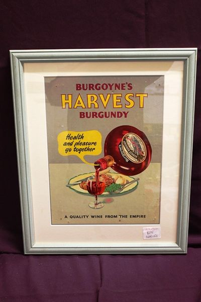 Classic Burgoynes Burgundy Shop Display Card
