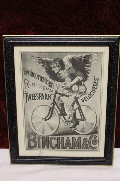 Classic Original Framed Bingham +Co Advertising Cycles  Print