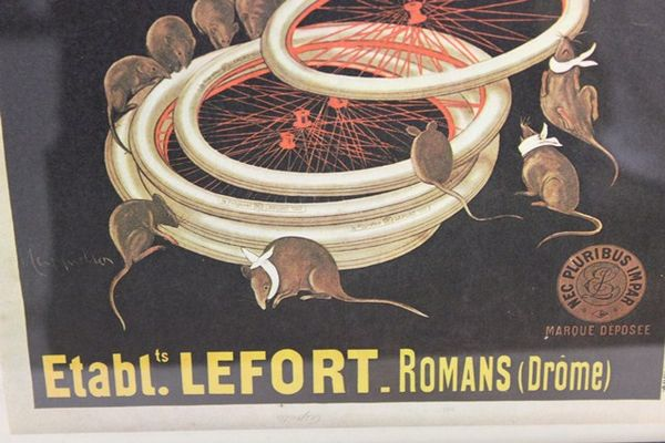Classic Original Framed Lefort Advertising Cycles Print