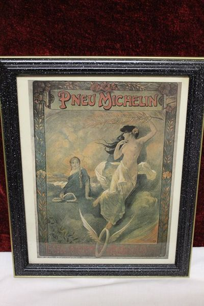 Classic Original Framed Michelin Advertising  Print