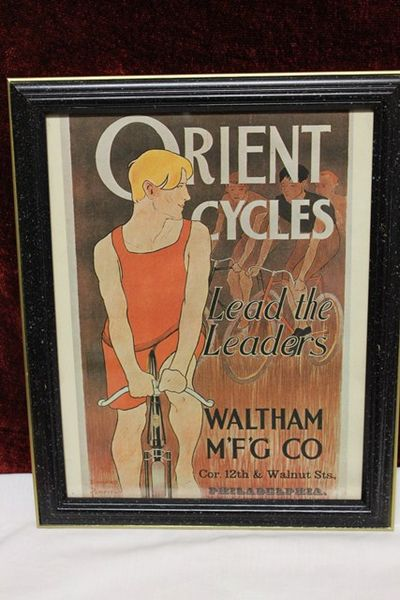 Classic Original Framed Orient Cycles Advertising Cycles  Print