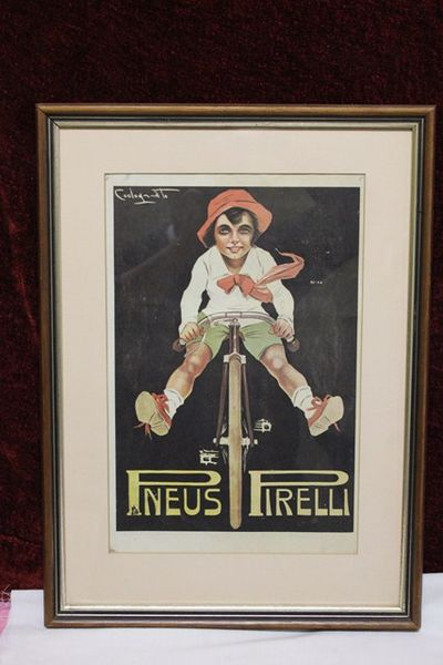 Classic Original Framed Pirelli Advertising Print