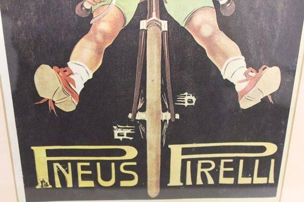 Classic Original Framed Pirelli Advertising Print