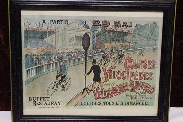 Classic Original Framed Veledrome Advertising Cycles Print