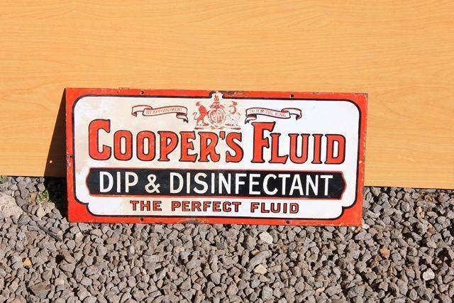 Coopers Fluid Enamel Advertising Sign