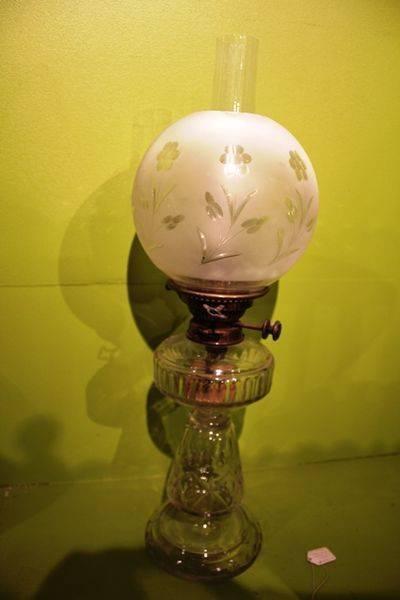 Cut Lead Crystal Glass Oil Lamp C1900