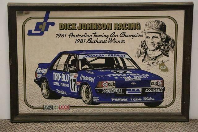 Decorative Mirror  Pictorial Australian Touring Car Champion
