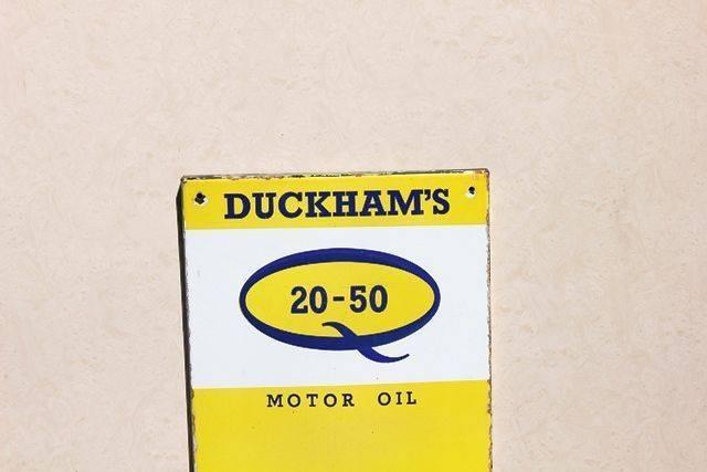 Duckhams Enamel Advertising Thermometer Sign