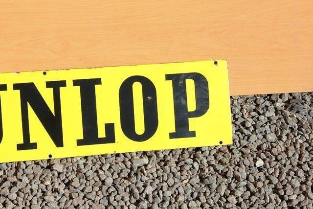 Dunlop Double Sided Enamel Sign