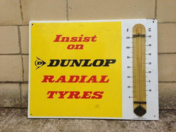 Dunlop Enamel Advertising  Thermometer