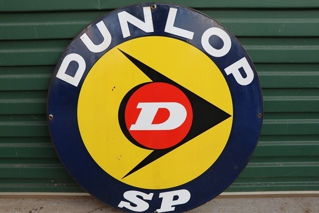 Dunlop SP Double Side Enamel Advertising Sign